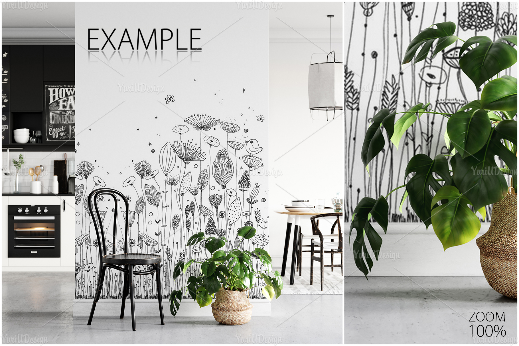 Scandinavian Interior Frames & Walls Mockup Bundle - 3 example image 14