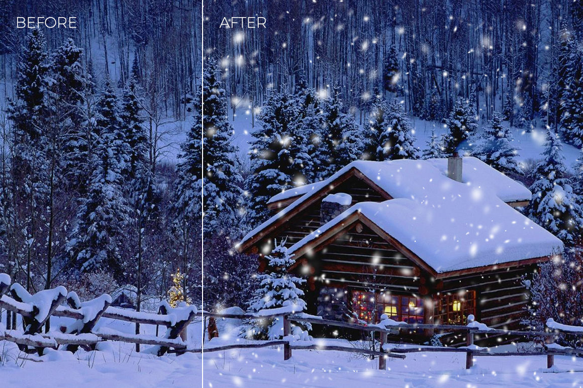 30 Real Snow Overlays example image 3