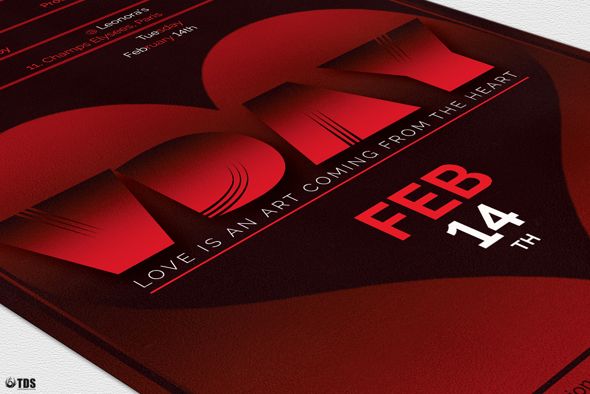 Valentines Day Flyer Template V11 example image 6
