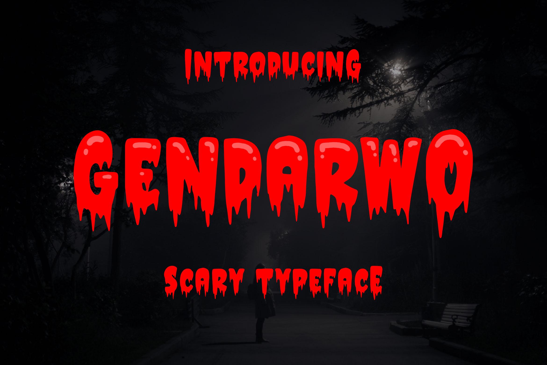 Gendarwo - Scary Typeface example image 1