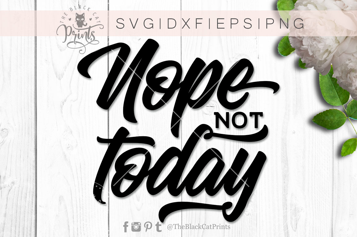 Nope Not Today SVG DXF PNG EPS example image 4