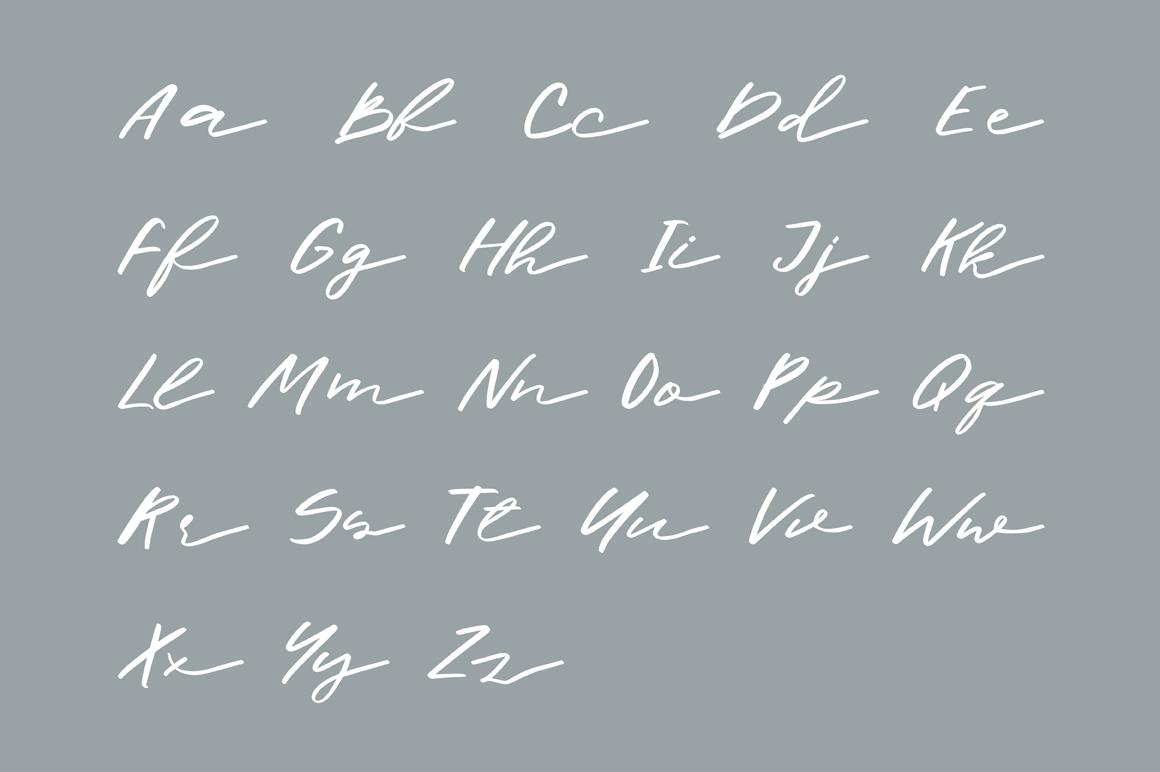 Halbrein || Multilingual Handwritten Script Font example image 2