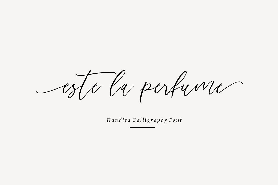 Handita - Calligraphy Font example image 5