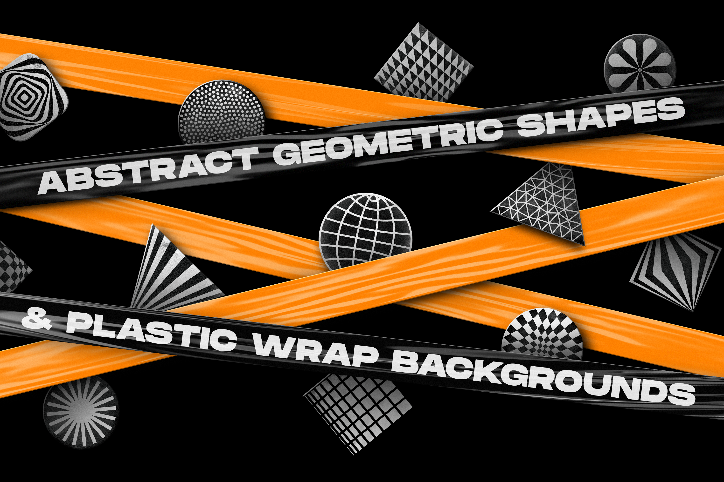 200 Abstract geometric shapes & Plastic wrap backgrounds example image 1