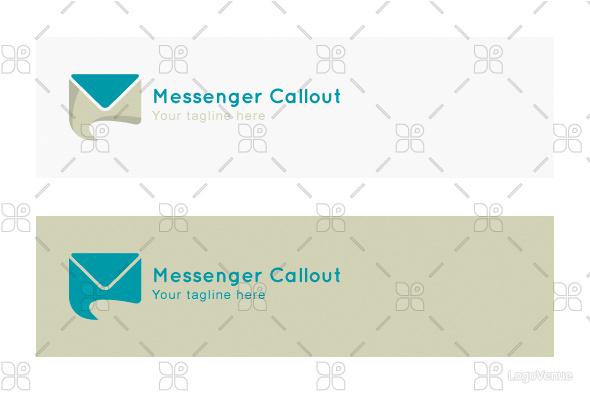 Messenger Callout - Messaging App Stock Logo Template example image 2
