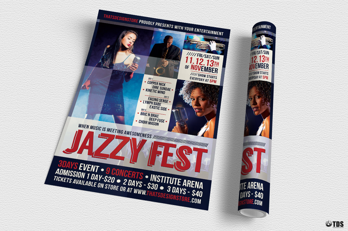Jazzy Fest Flyer Template V1 example image 3