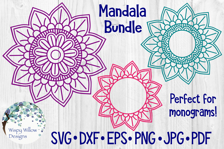 Huge Mandala Bundle | 36 SVG Cut Files example image 3