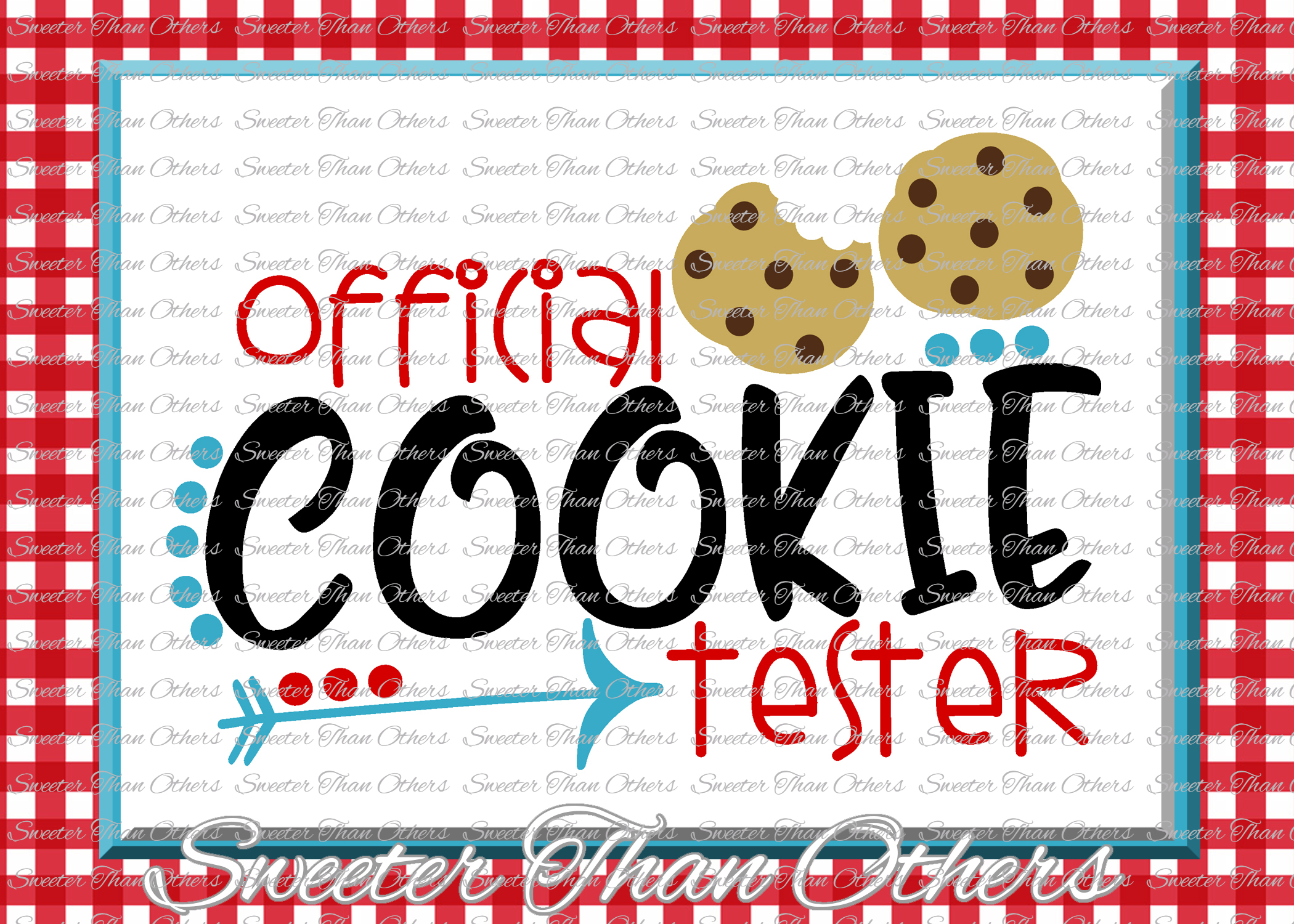 Official Cookie Tester Svg, Christmas svg, Cookies svg, example image 1