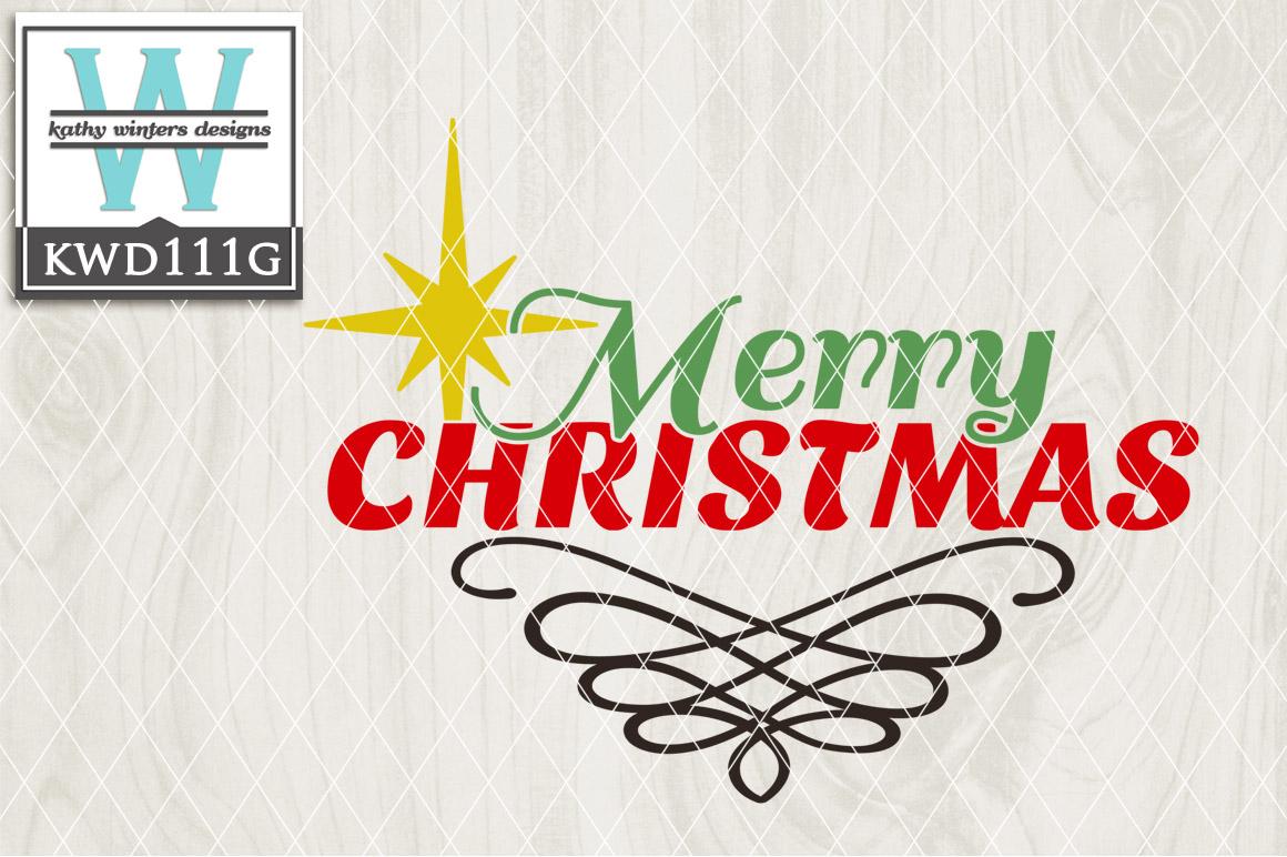 Christmas Cutting File KWD111G example image 1