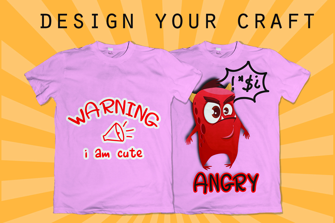 Angry Monsta - A Funny Font with doodles example image 3