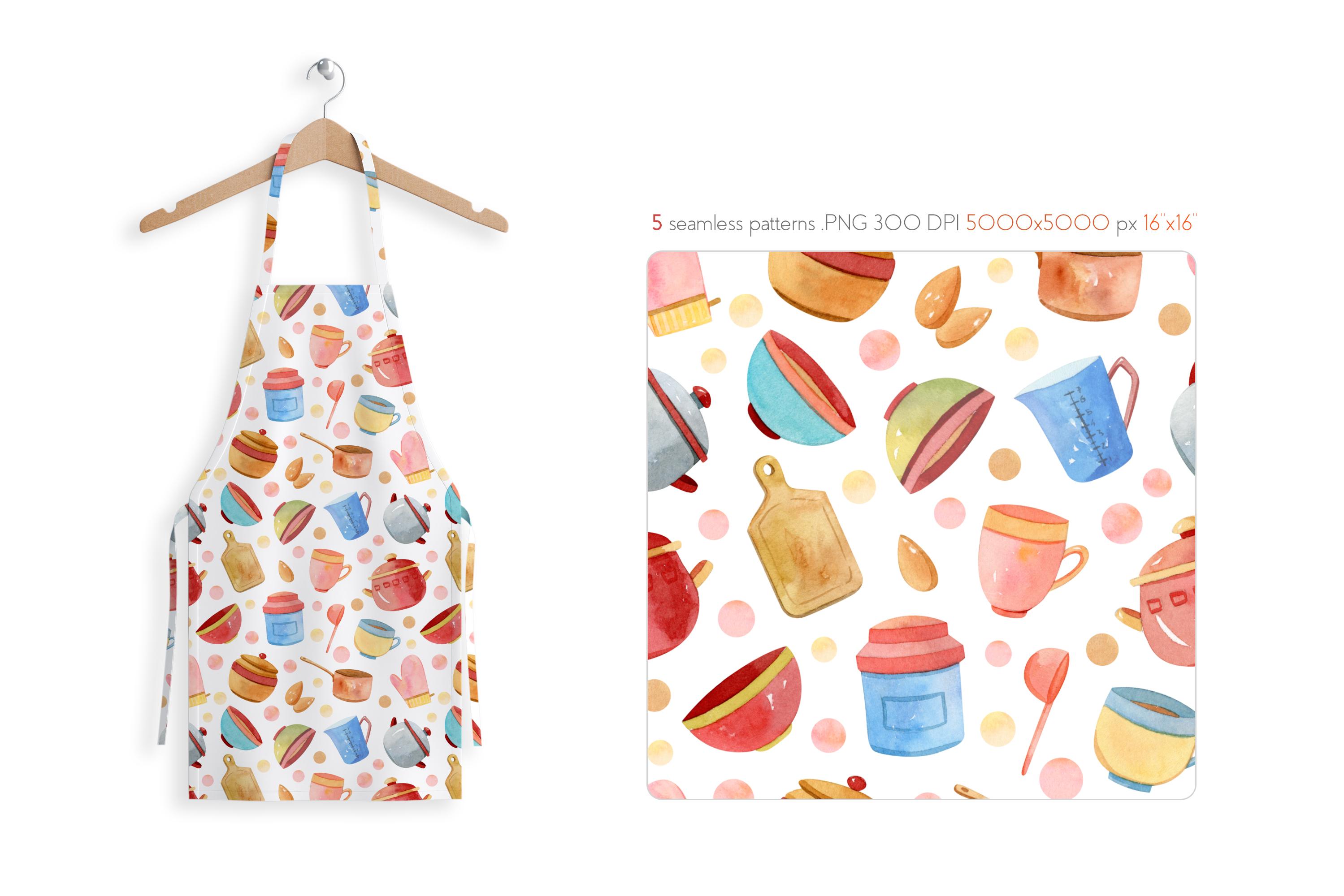 Watercolor Kitchen Utensils Set 2 example image 9