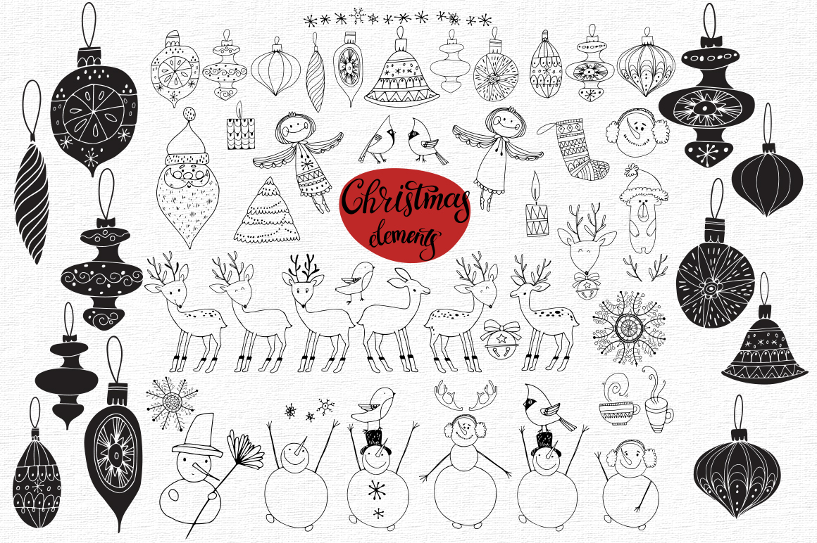 Christmas doodles.  example image 2