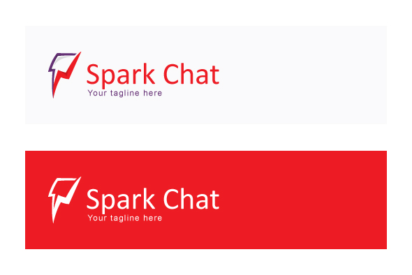 Spark Chat - Iconic Stock Logo Template example image 2