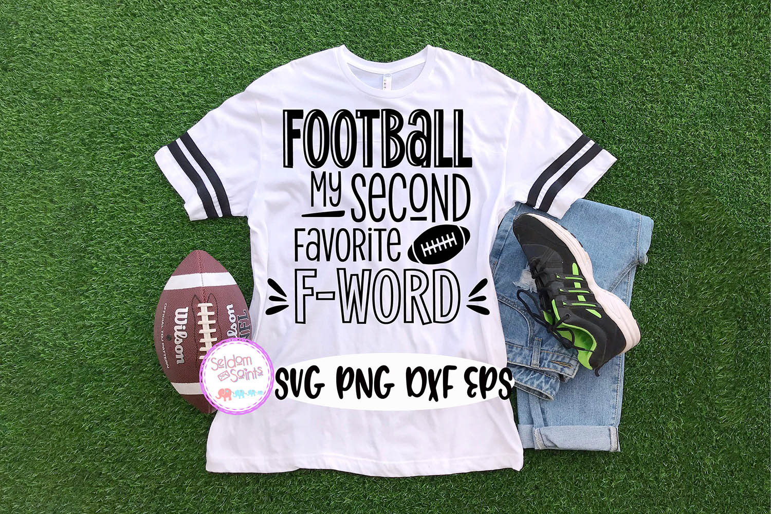 Football my Second favorite F Word SVG PNG DXF EPS example image 1