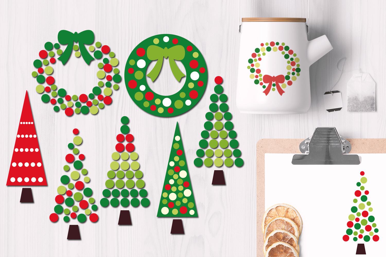 Christmas Wreath and Tree Polka Dot example image 1