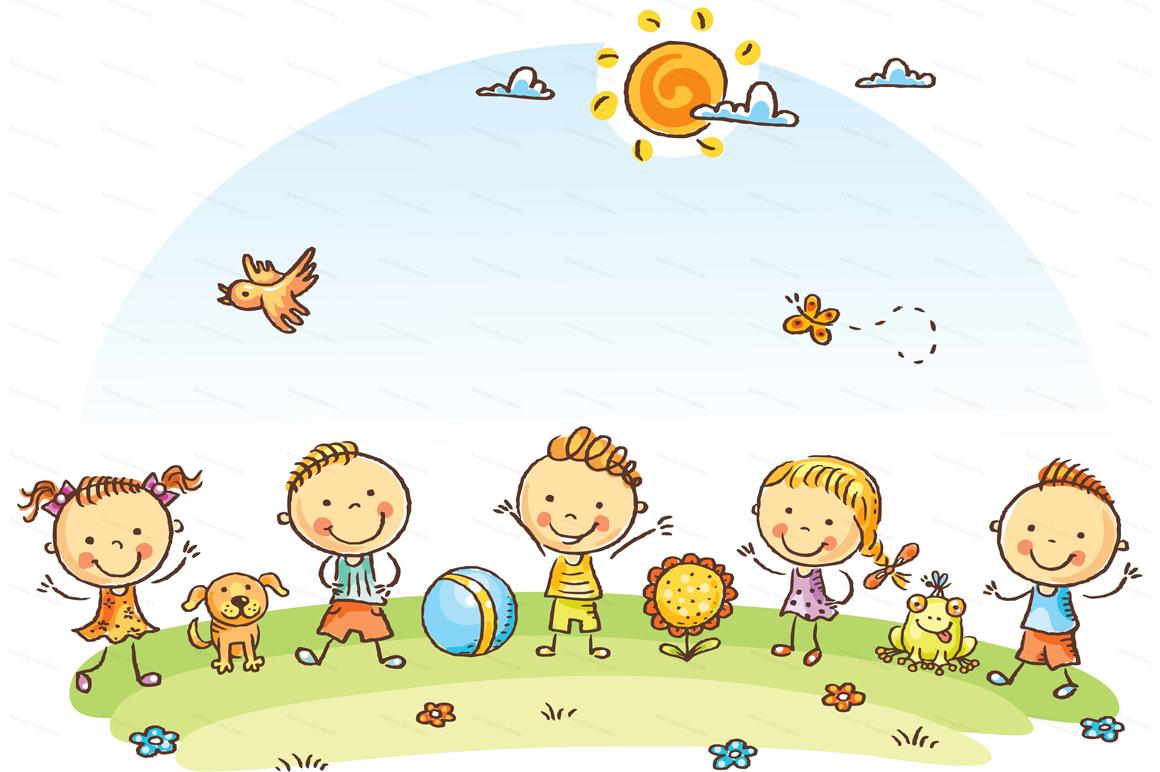 Happy Cartoon Kids Bundle, children doodle, kids doodle example image 16