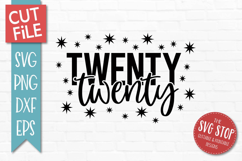 Twenty Twenty New Year SVG, PNG, DXF, EPS example image 1