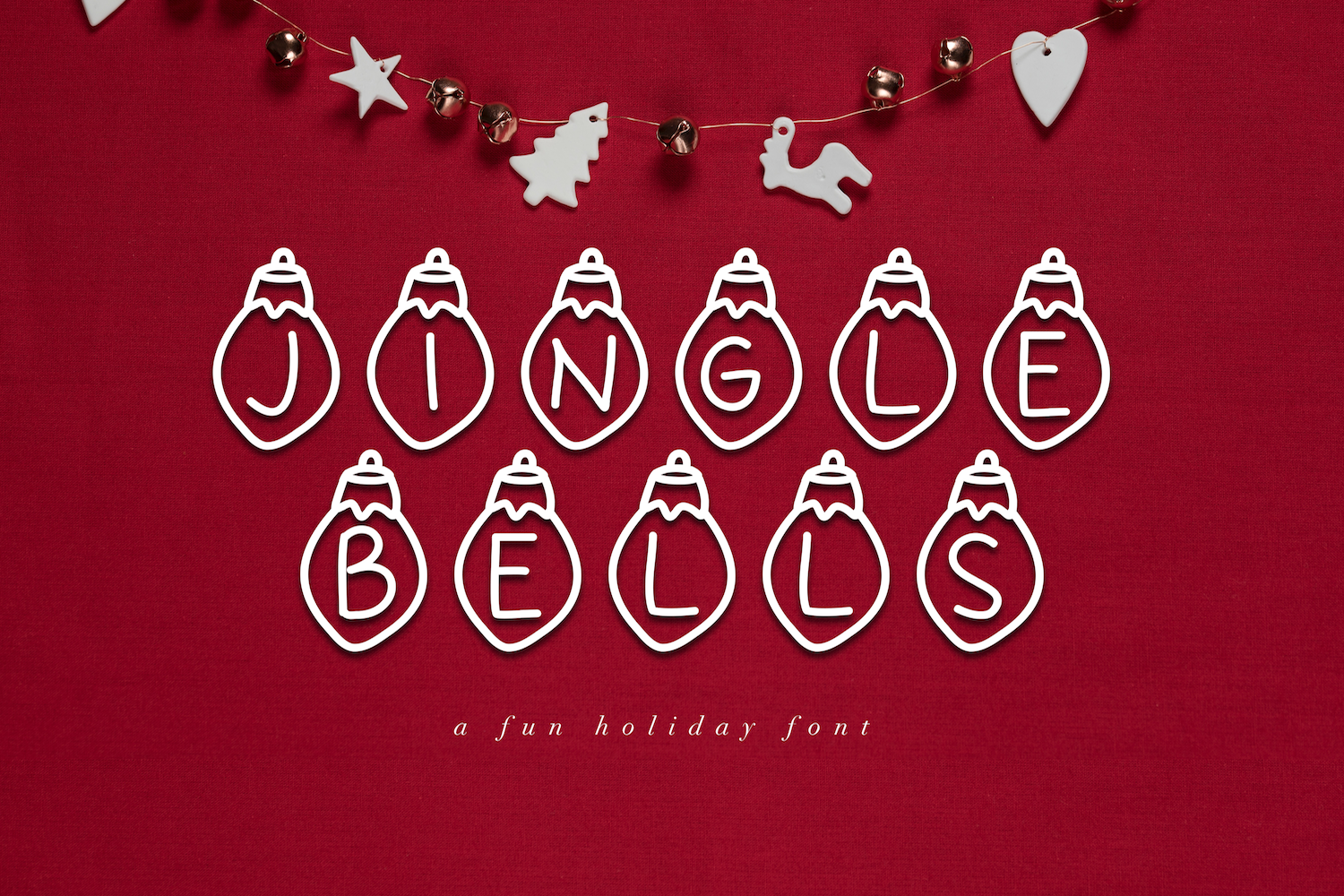 Jingle Bells - A Fun Christmas Font example image 1