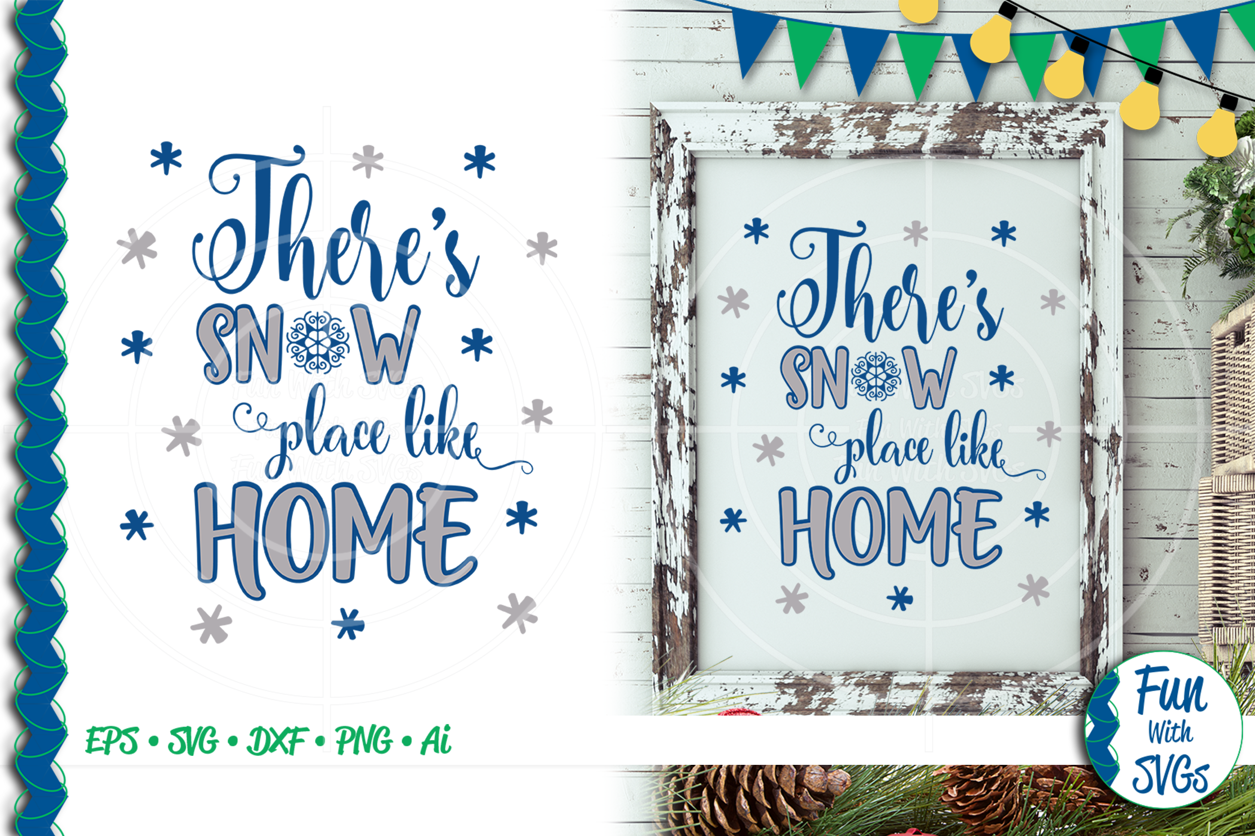 SVG There's No Place Like Home, Cut File, Clip Art FWS392 example image 1