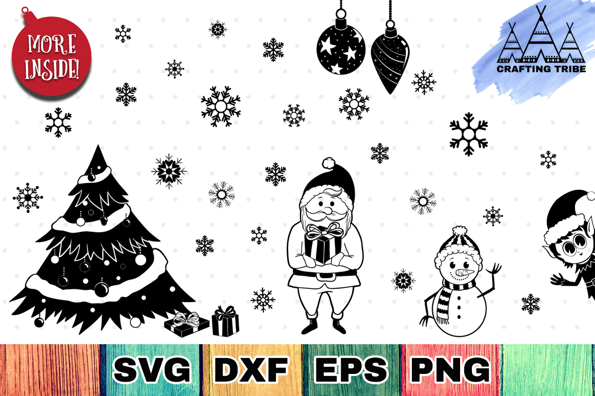 The Huge Christmas SVG Bundle with 111 Cut Files example image 4