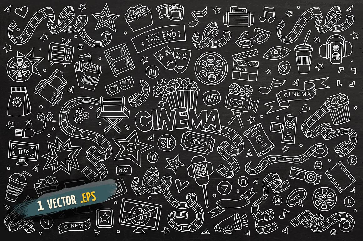 Cinema Objects & Elements Set example image 4