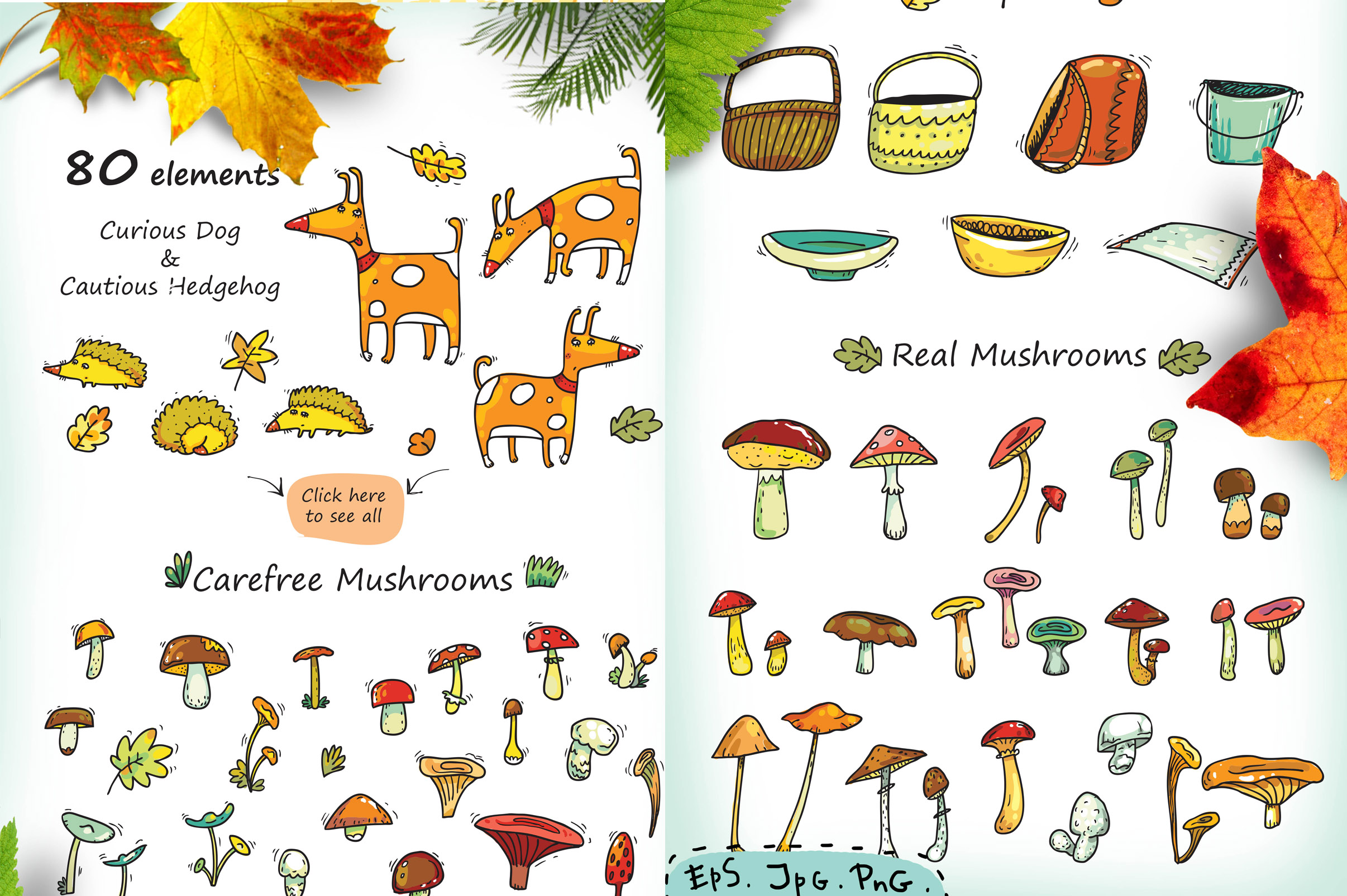 Autumn History - mushroom collection example image 4