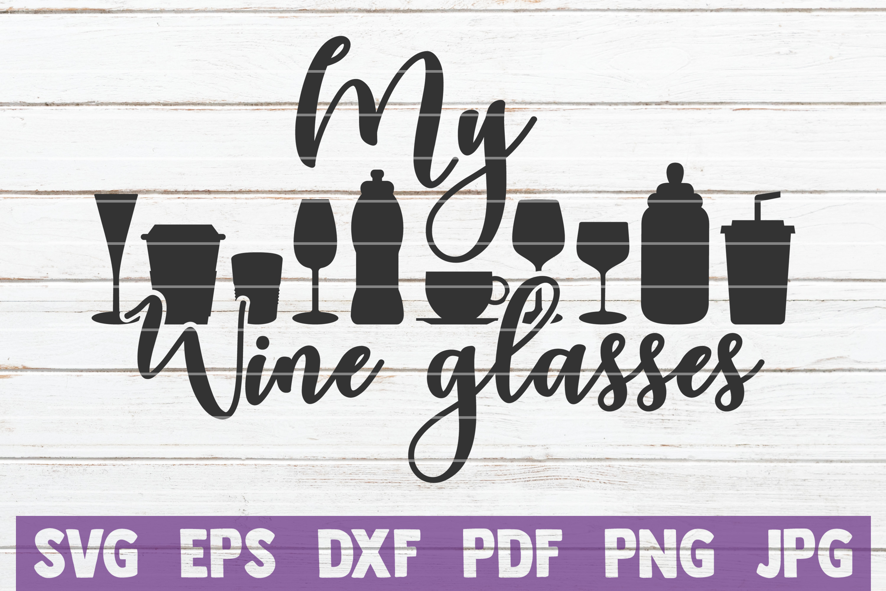 Wine SVG Bundle | commercial use | SVG cut files example image 15