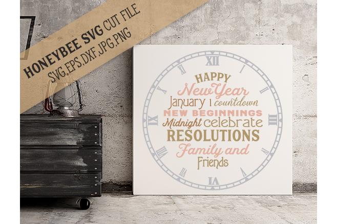 Happy New Year Clock example image 1