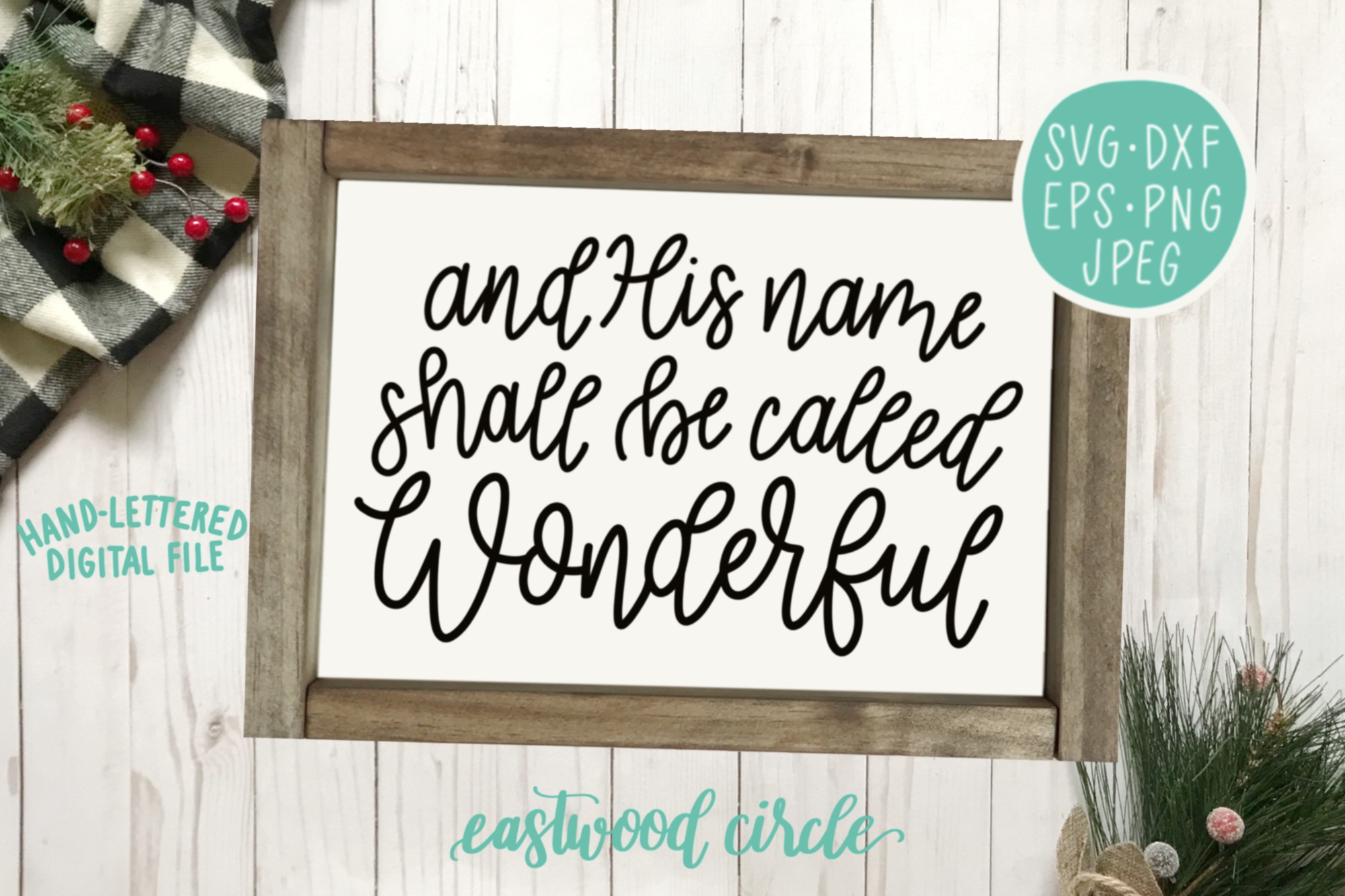 Christmas SVG Bundle - Hand Lettered Cut Files for Signs example image 4