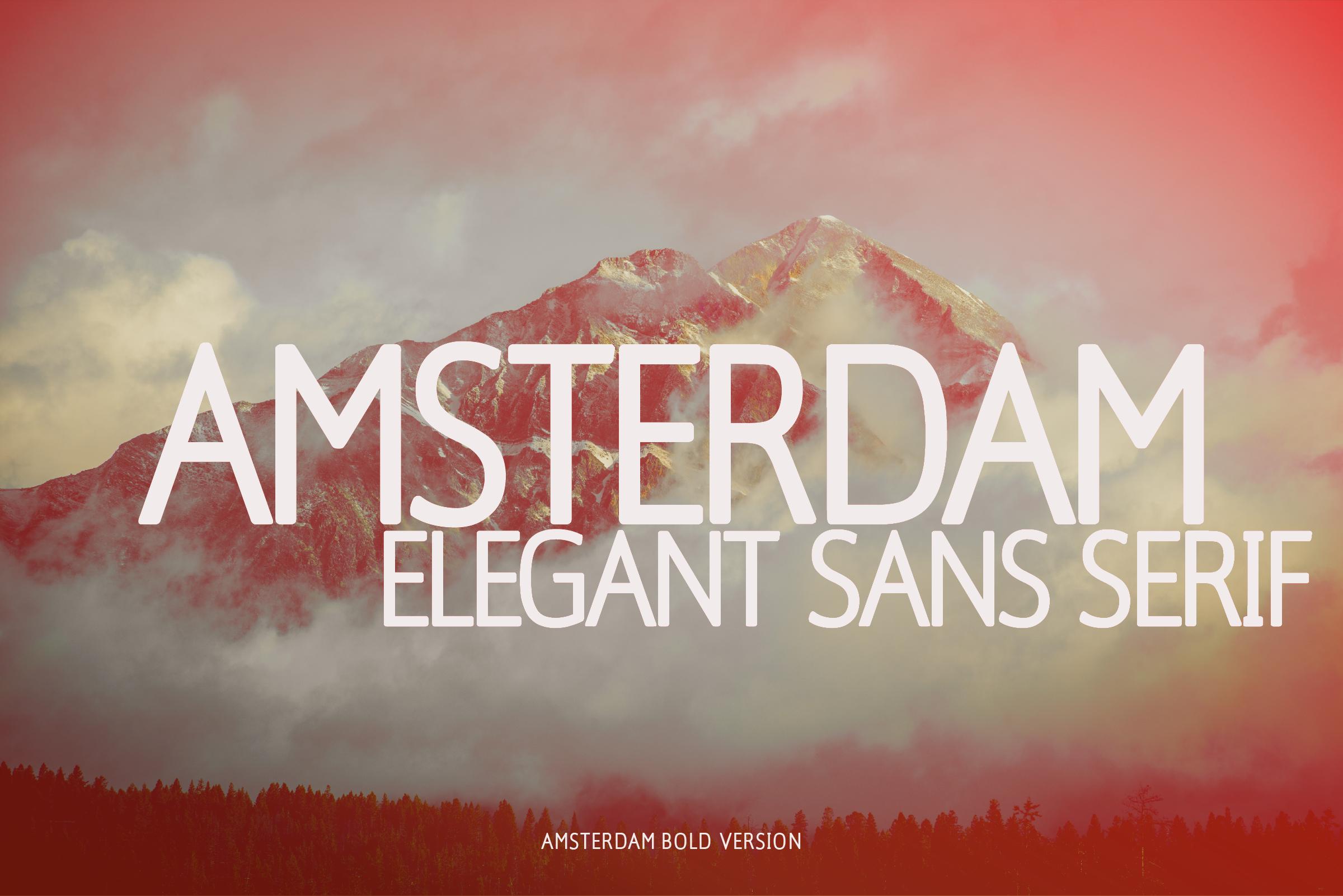 Amsterdam Bold Versionl Elegant font sans serif example image 2