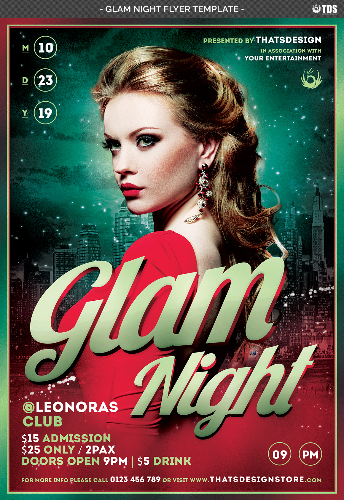 Glam Night Flyer Template example image 4