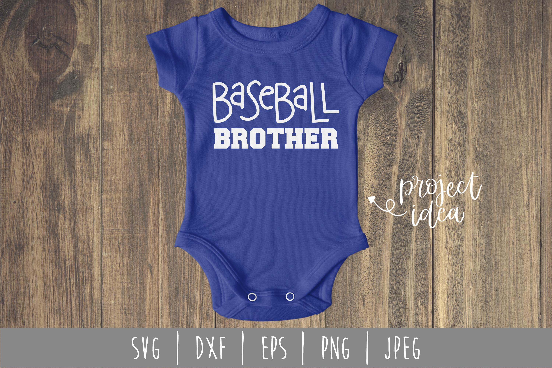 Baseball Brother SVG, DXF, EPS, PNG JPEG example image 1