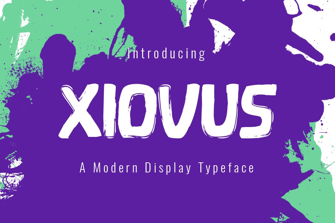 Xiovus Typeface example image 1