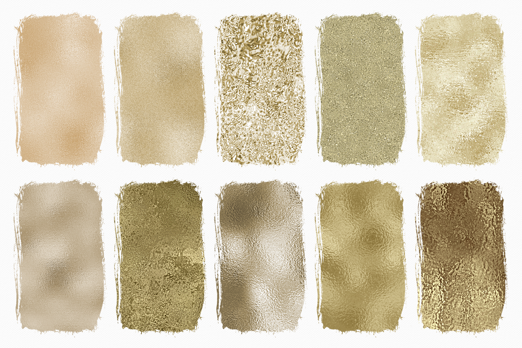 Pale Gold Foil Textures - 10 Seamless Digital Papers example image 3