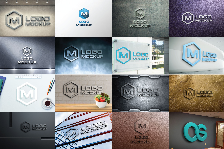 3D Logo Mock-up Bundle example image 1