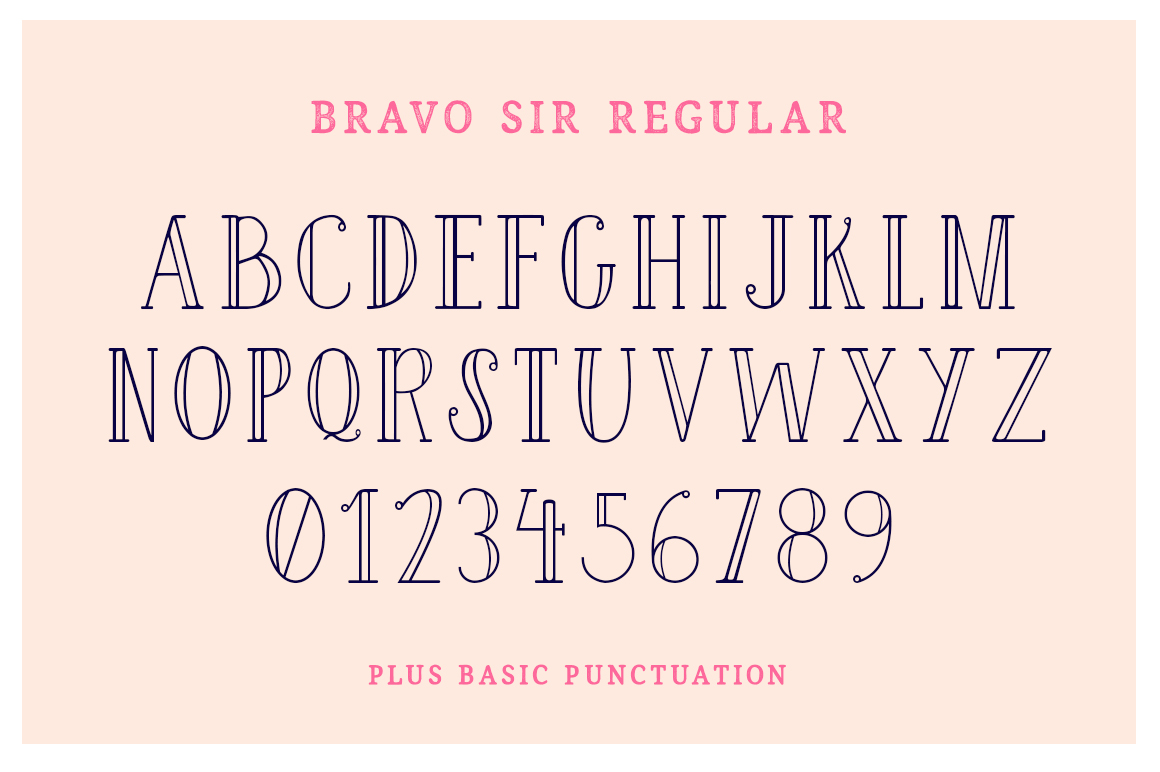 Bravo Sir Font Family example image 4