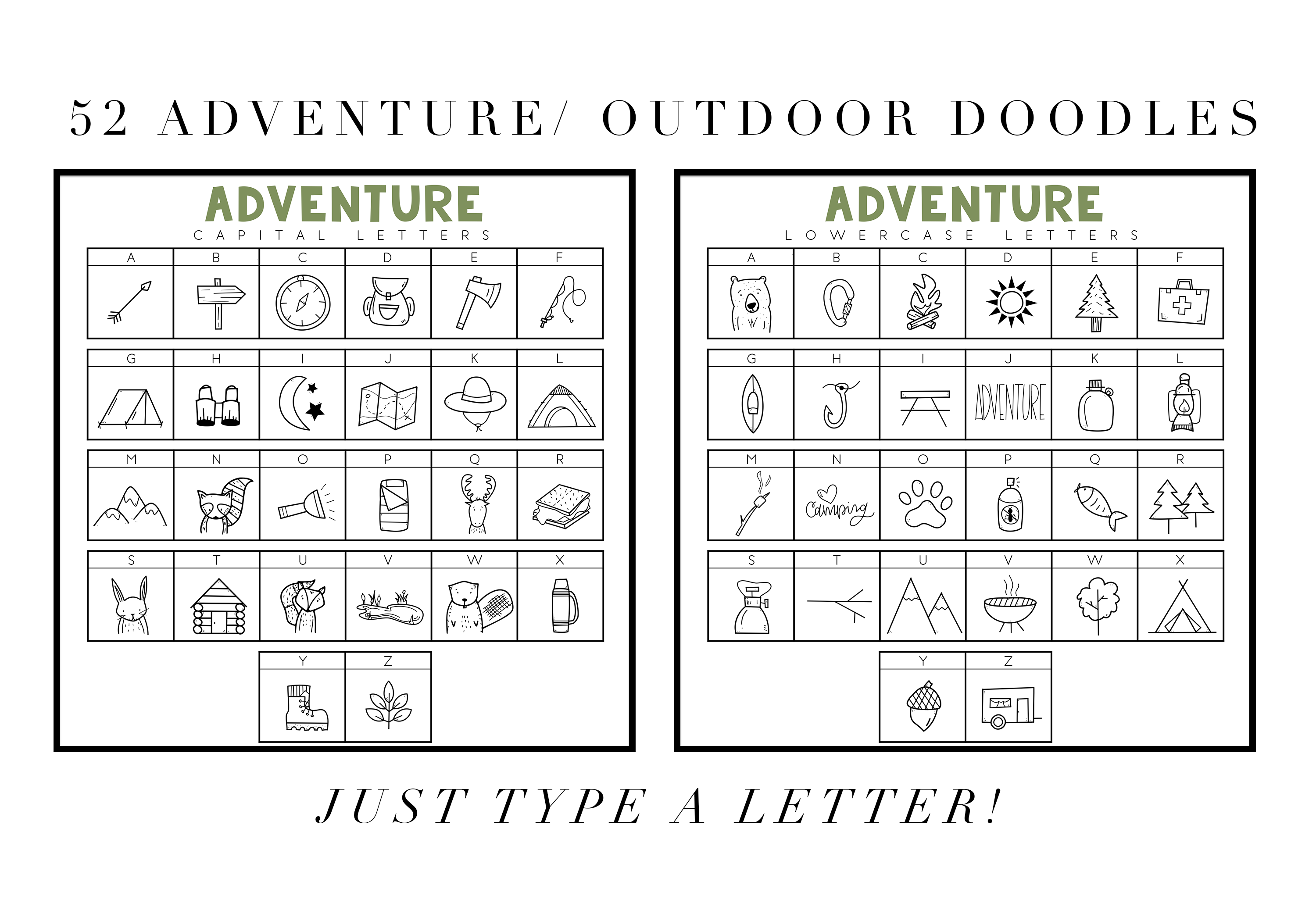 Adventure - A Camping & Outdoors Doodles Font example image 2