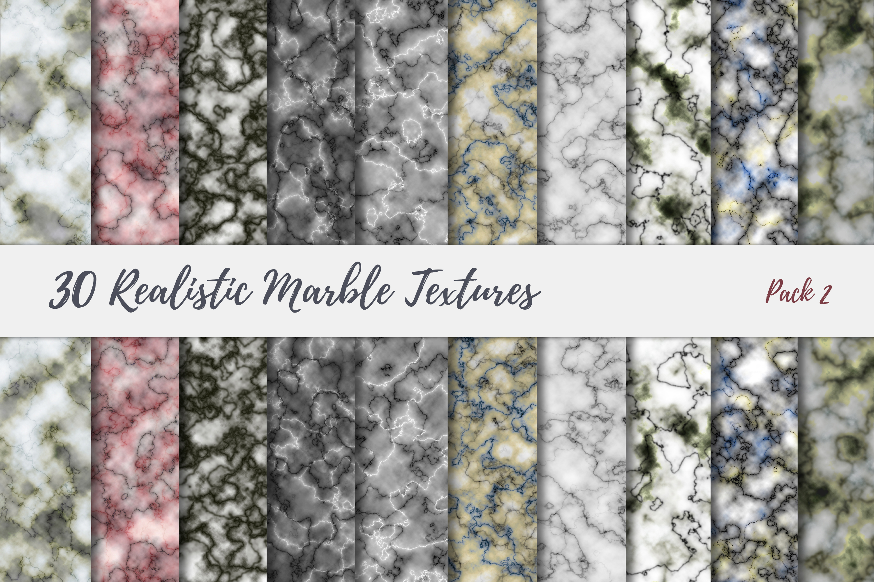 30 Realistic Marble Textures - JPG example image 17