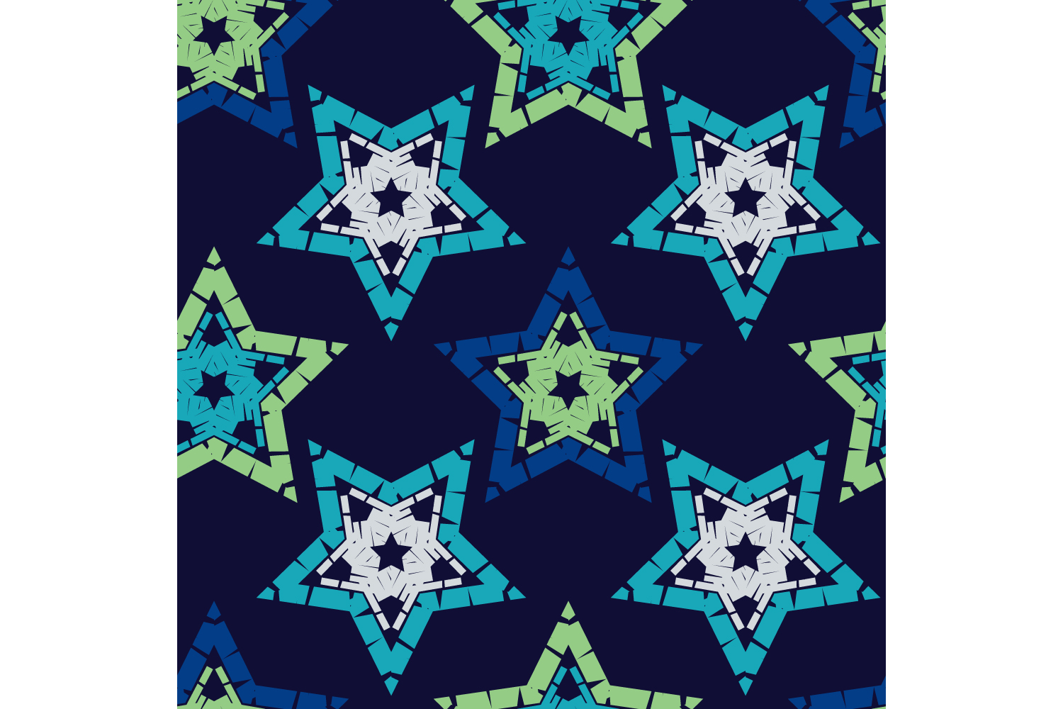 Ornament with Stars. Set of 10 seamless patterns. example image 3