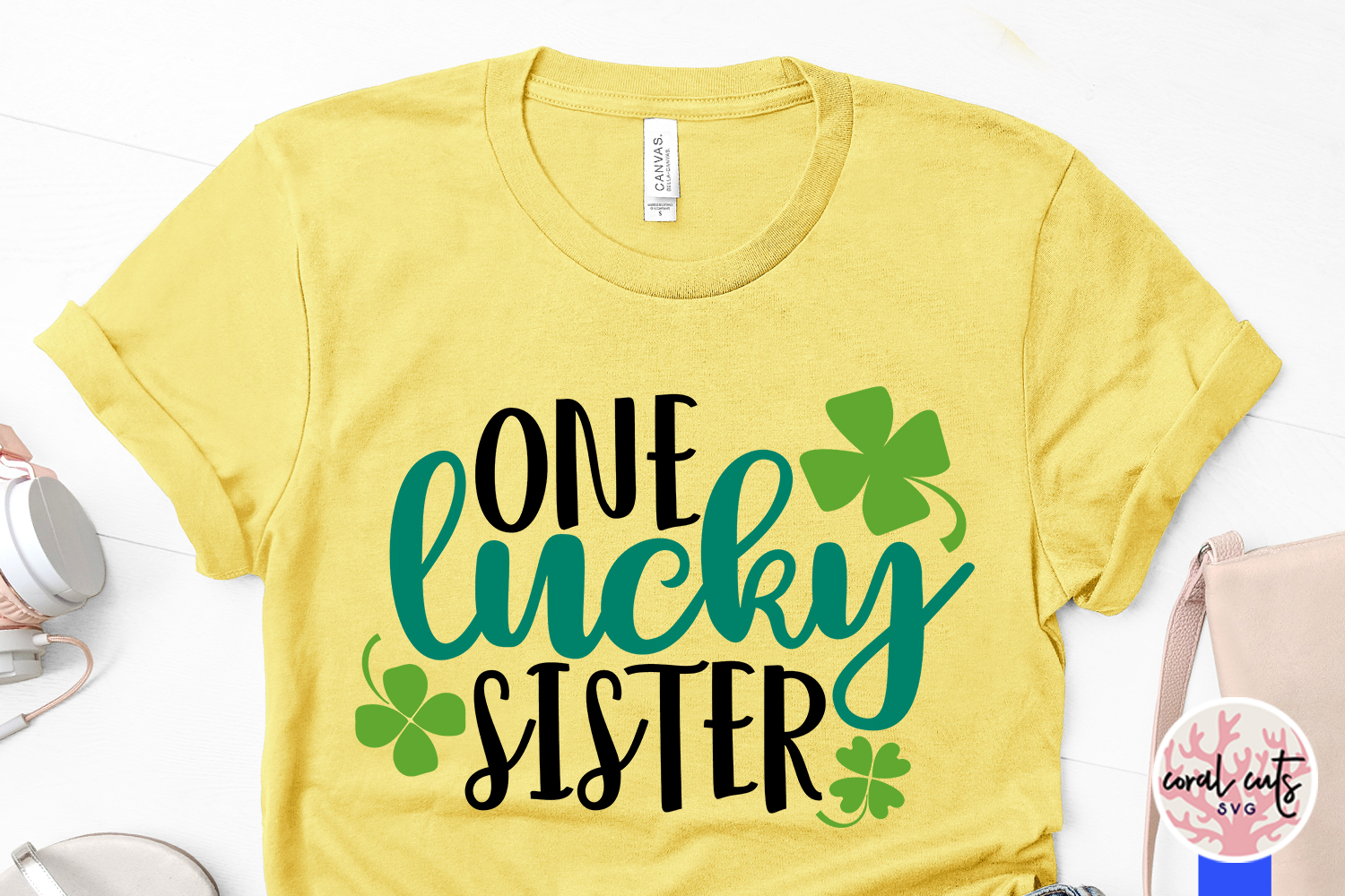 One lucky sister - St. Patrick's Day SVG EPS DXF PNG example image 3