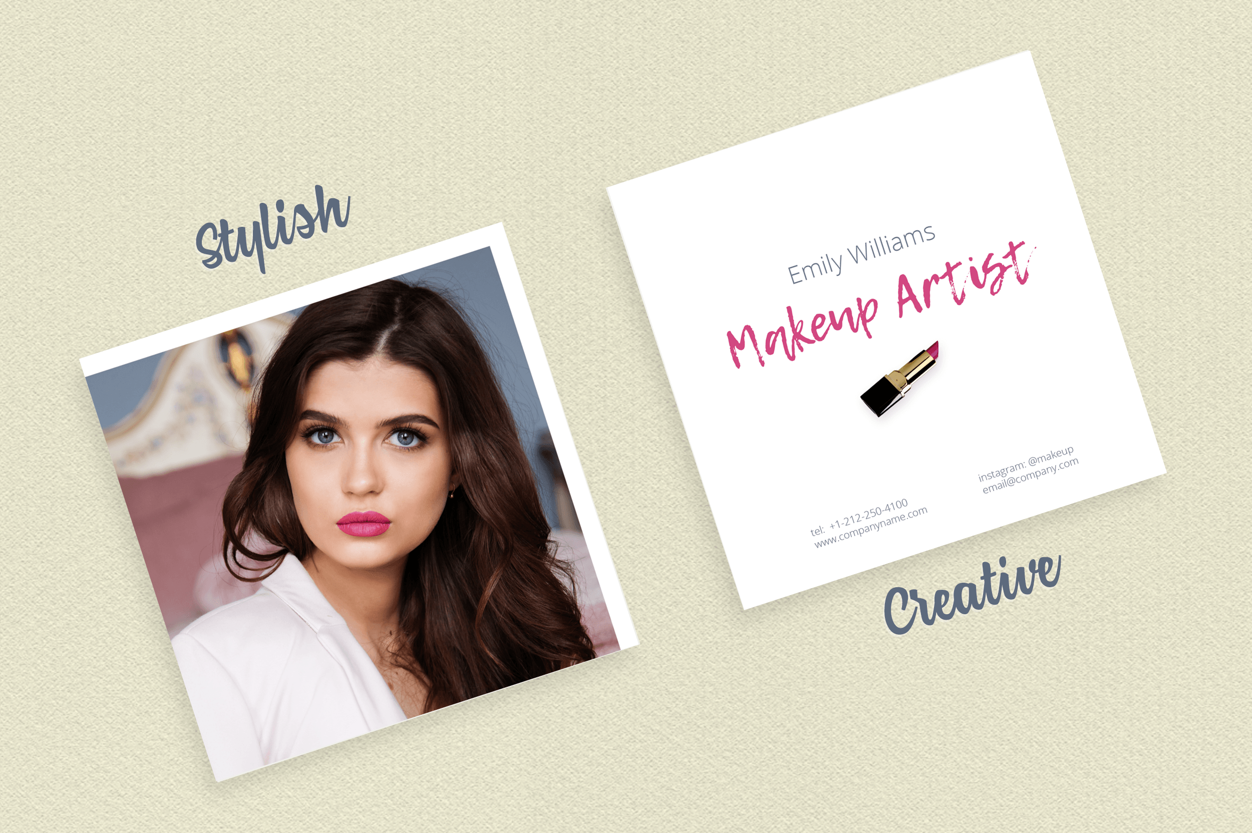 Makeup Artist Business Card Template example image 7