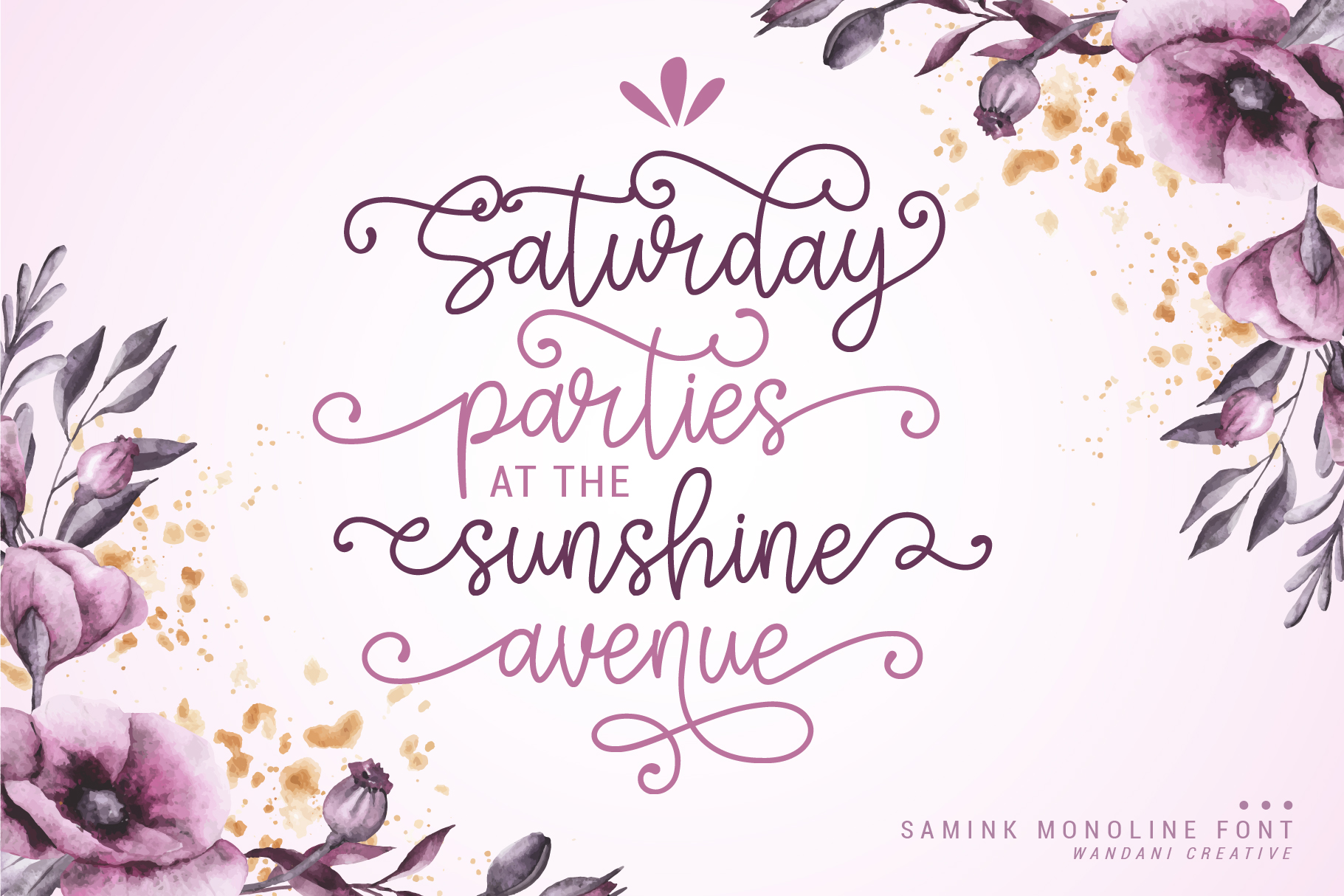 Samink Monoline font & Extras example image 2