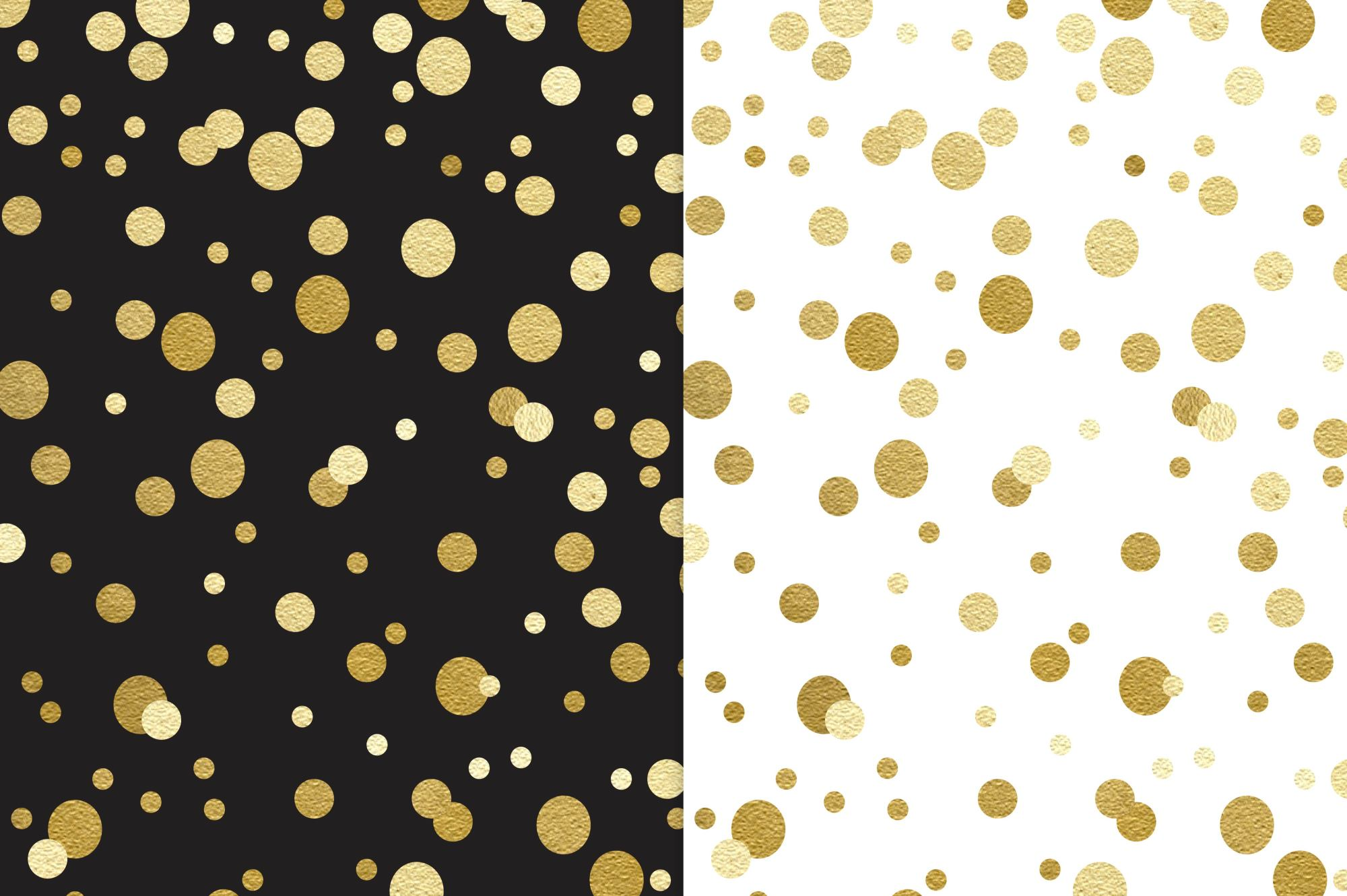 Black and Gold Digital Paper Patterns example image 2