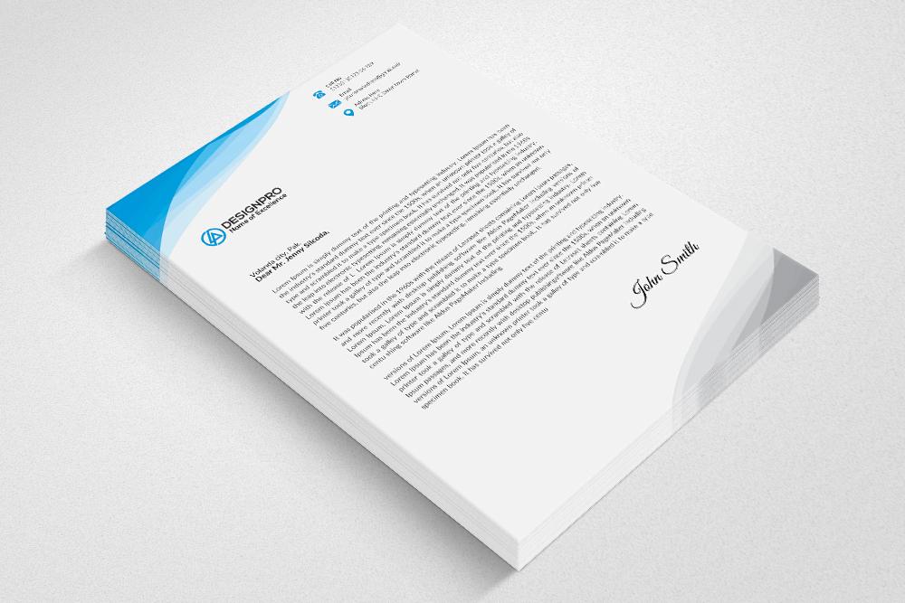 Professional Letterhead Design Example Image 4