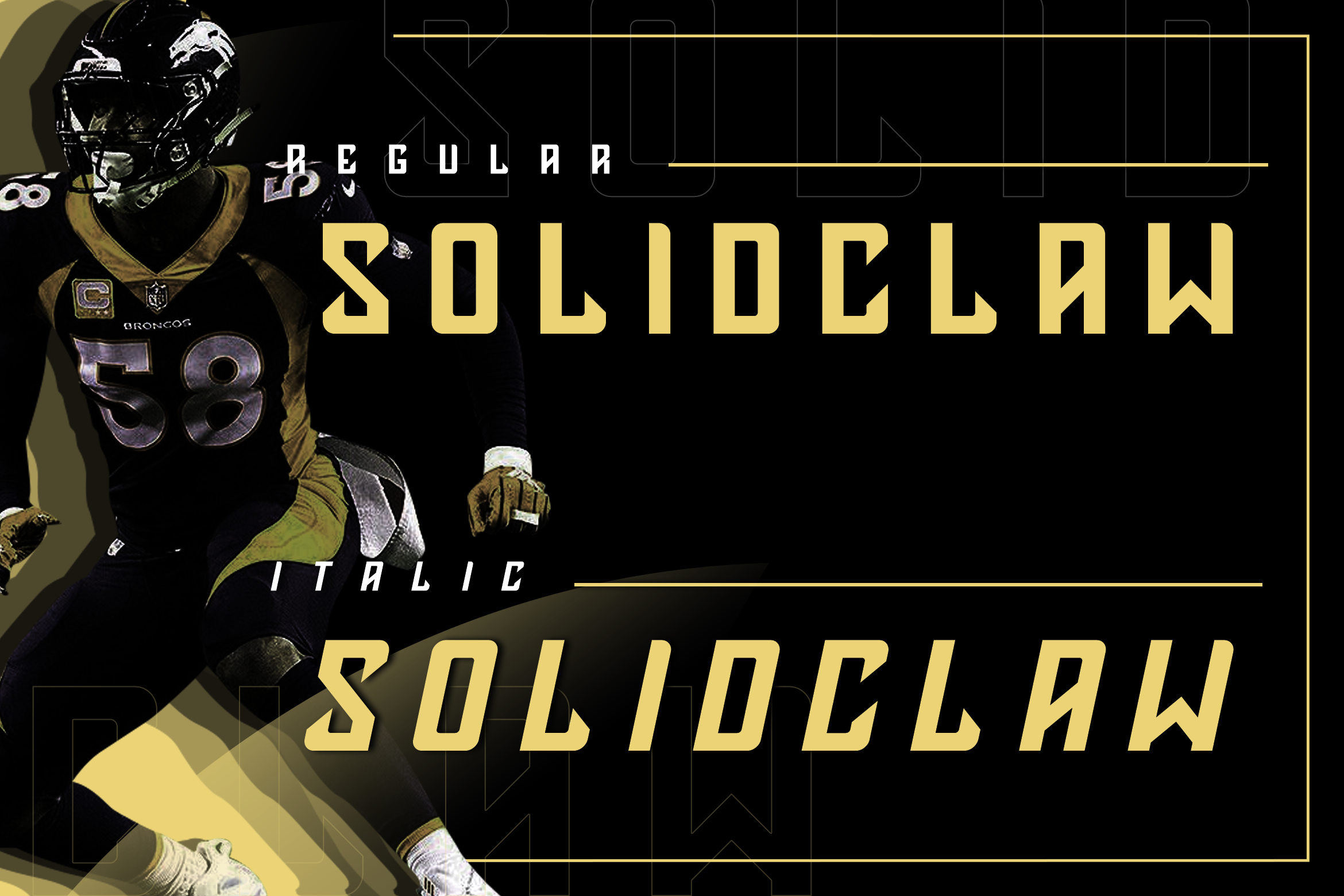 Solidclaw Display font example image 2