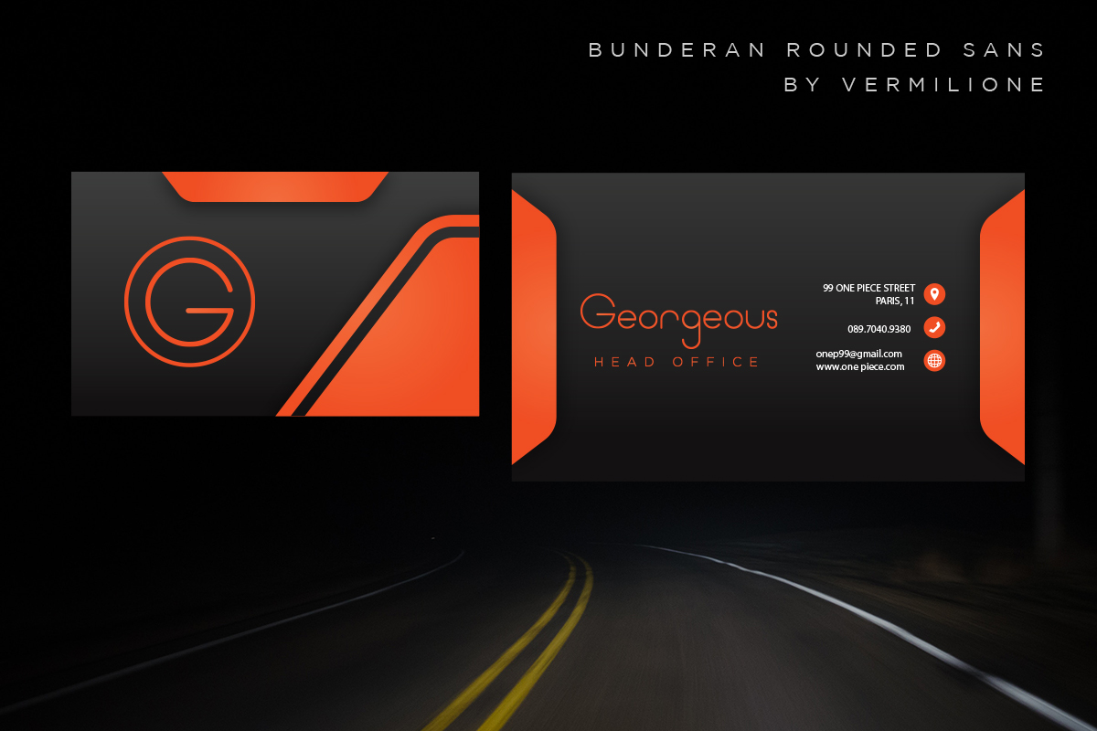Bunderan Rounded Sans example image 8