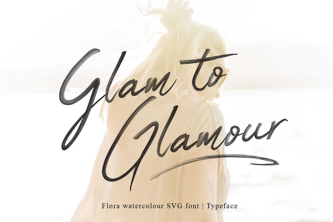 Flora SVG Font example image 5