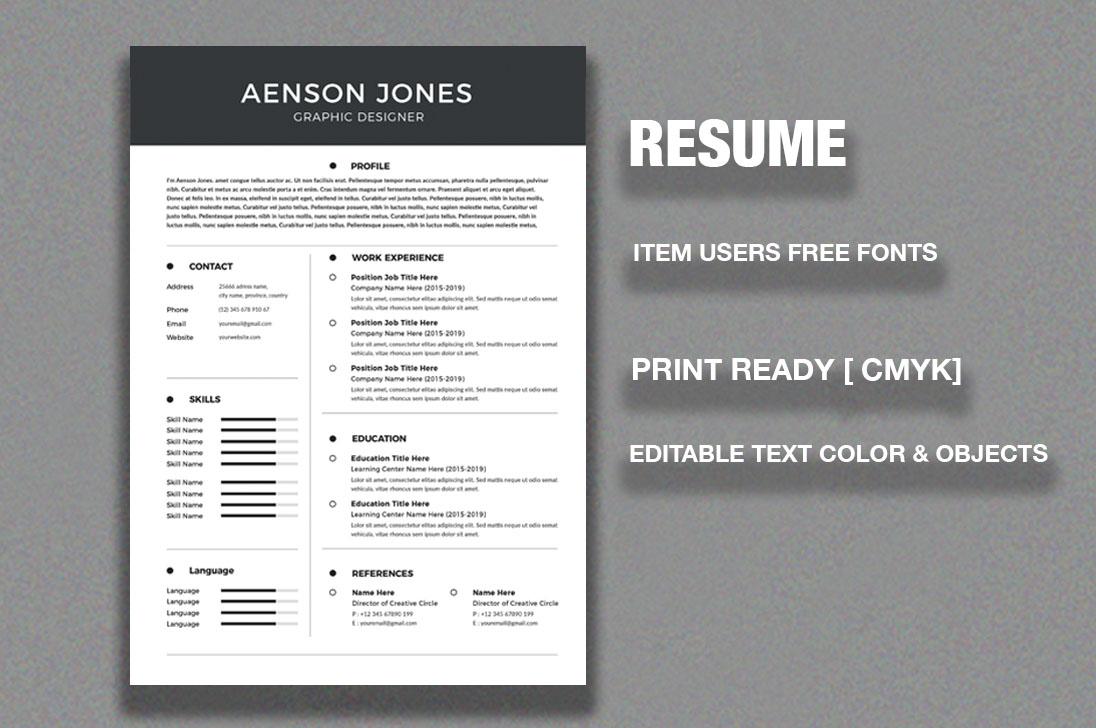 Resume/CV example image 2