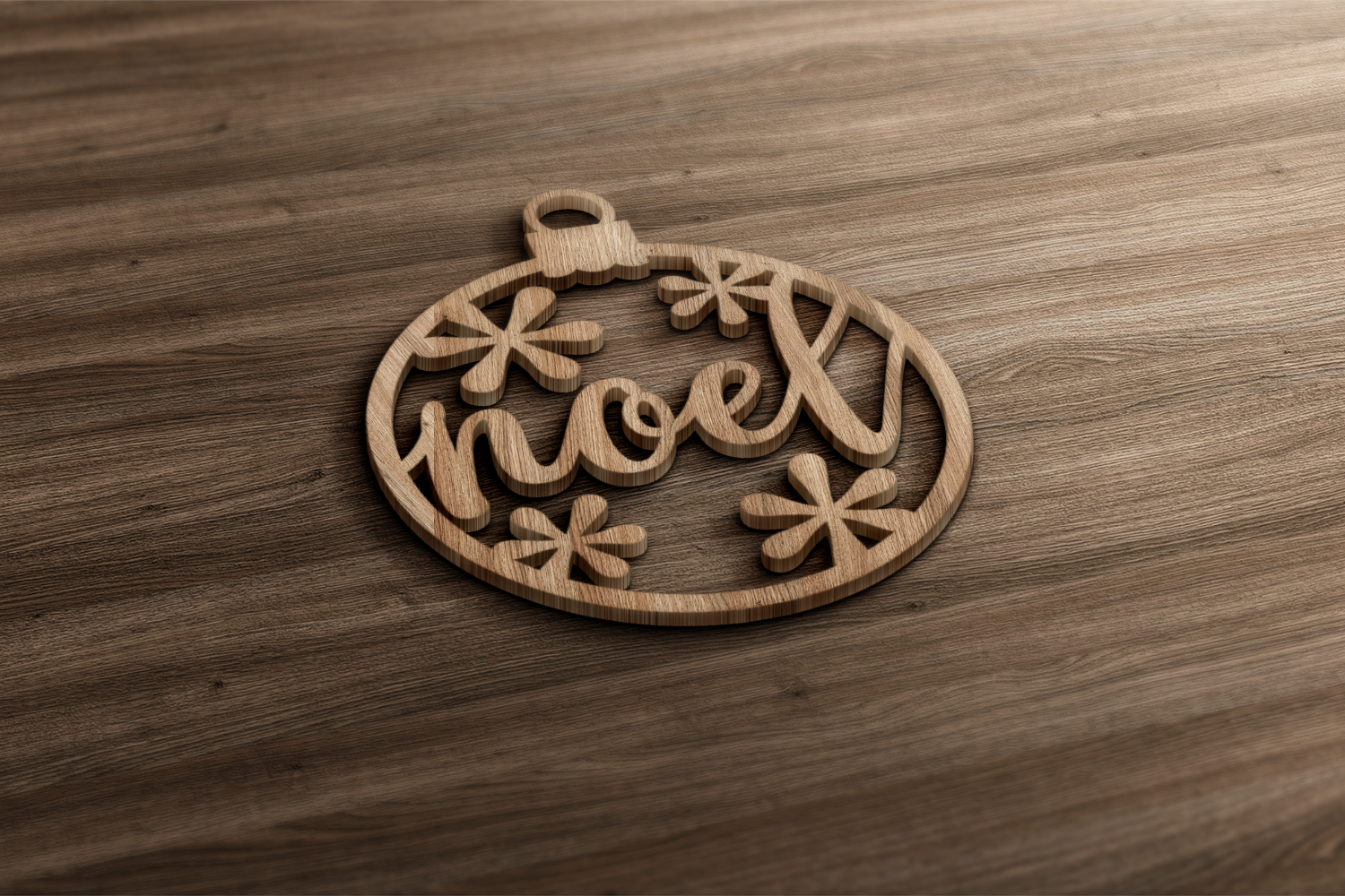 Papercut Christmas Word Ornaments SVG Design example image 2