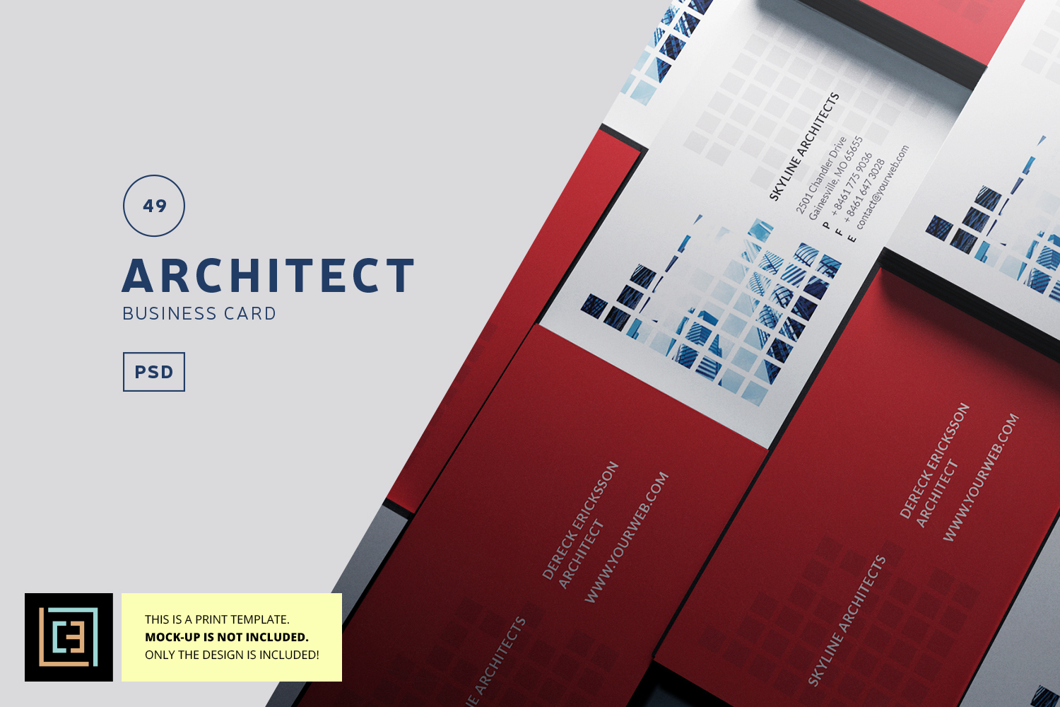architect business card bc049 example image 1 - Architect Business Card